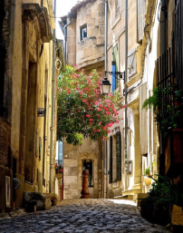 Alley in Arles Provence France
