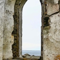 Through the Church Window, Isle of Shapensay